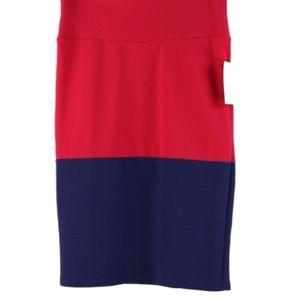 LuLaRoe Skirts - 🔴LAST CALL🔴LuLaRoe RedBlueColorBlock CassieSkirt